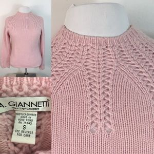 Vtg A. Giannetti Chunky Knit 100% Cashmere Sweater